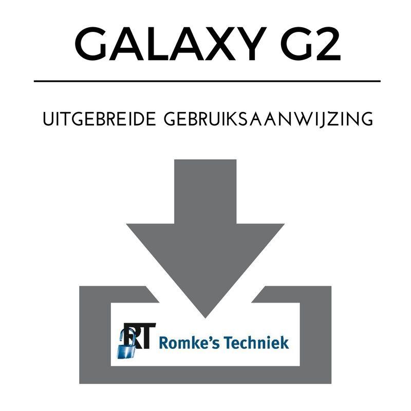 Uitgebreide Gebruiksaanwijzing G2