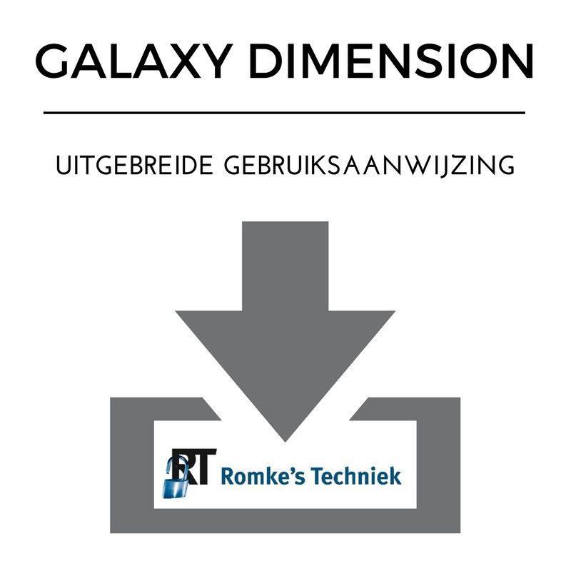 uitgebreide gebruiksaanwijzing galaxy dimension