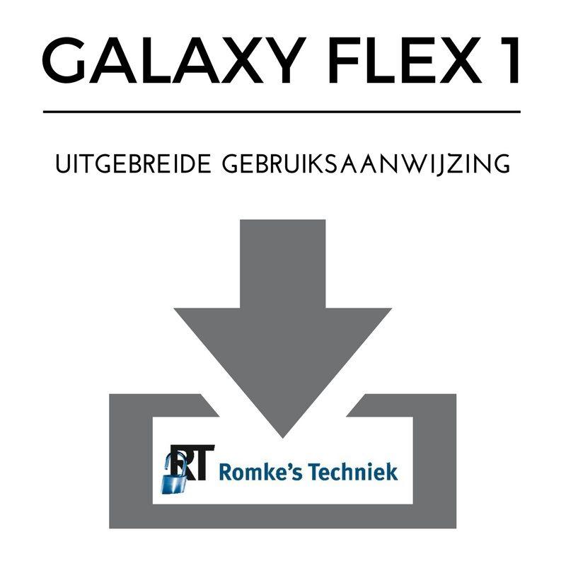 uitgebreide gebruiksaanwijzing galaxy flex 1