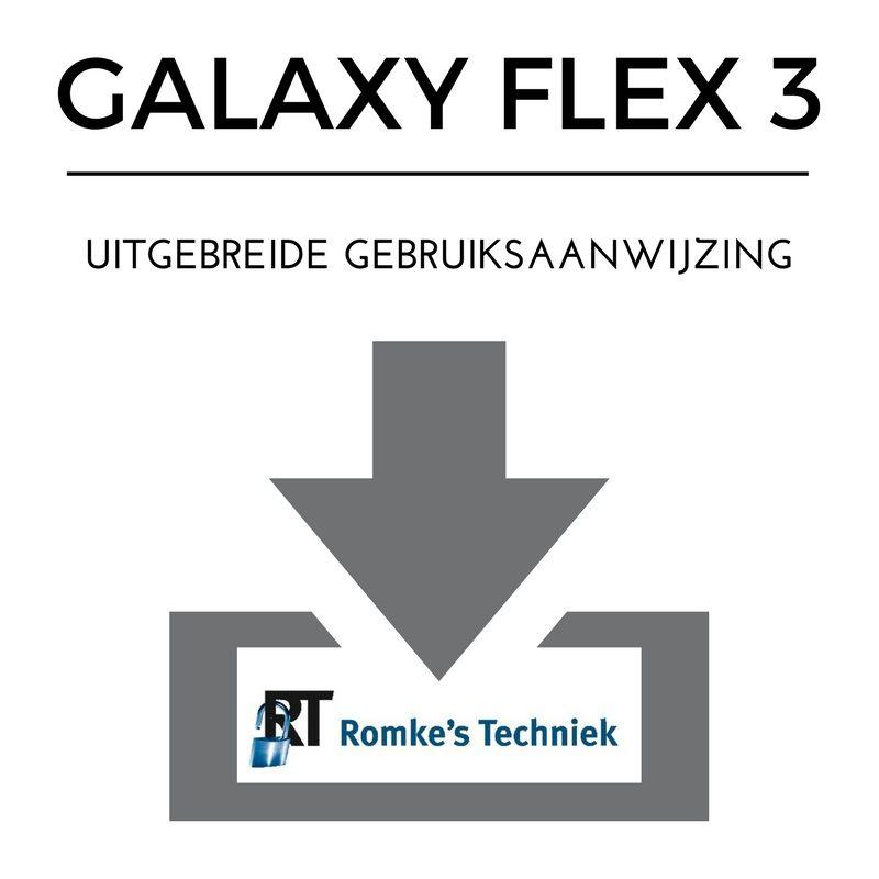 uitgebreide gebruiksaanwijzing galaxy flex 3