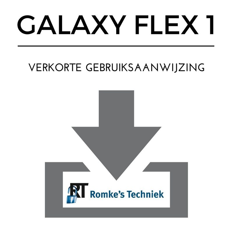 verkorte gebruiksaanwijzing galaxy flex 1
