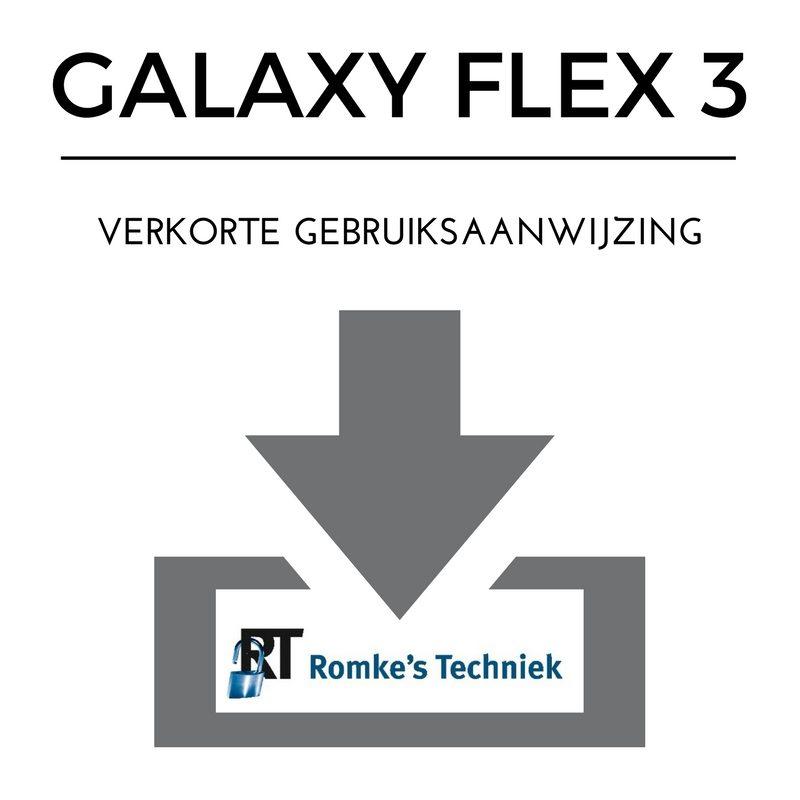 verkorte gebruiksaanwijzing galaxy flex 3