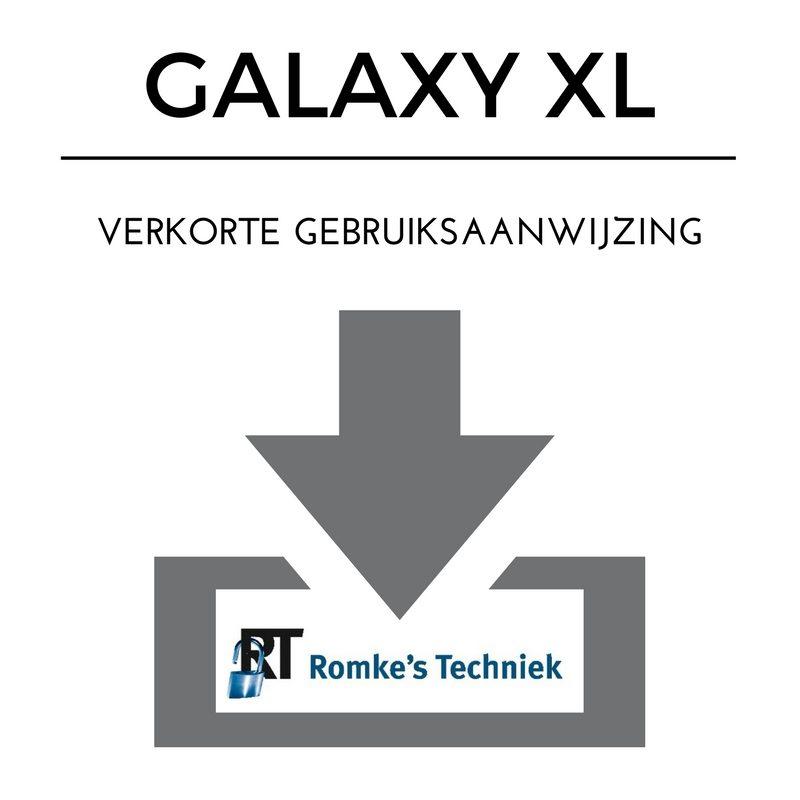 verkorte gebruiksaanwijzing galaxy xl